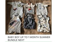 BABY BOY CLOTHES up to 1 Month SUMMER