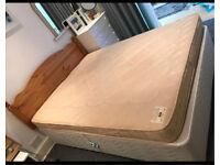 king size divan , mattress & head board - barely used