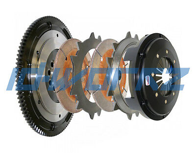 COMPETITION TWIN DISC RACING CLUTCH & FLYWHEEL FOR LANCER EVO 7 8 9 4G63T TURBO