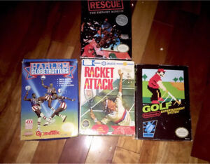 4 Boxed NES Games