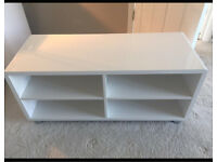 Lovely white high gloss Tv unit
