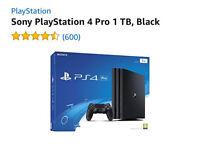 PS4 pro console 1 tb