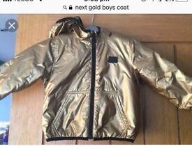Next gold padded coat