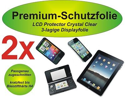 2x Premium-Schutzfolie 3-lagig Samsung Galaxy Pocket - S5300 - blasenfrei