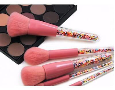 5X Glitter Makeup Brushes with Colorful Candy Beads Powder Eye Crystal Brush DD
