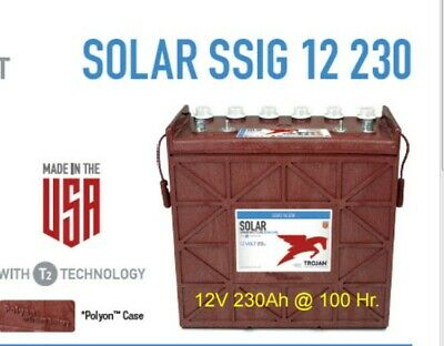Trojan Battery Solar 12v 230 Ah 100hr Ssig 12 230 Deep Cycle Flooded 4 Each