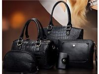 5pcs Womens Designer Leather Handbag Set