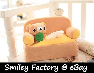 Super Cute Lovely Rilakkuma San-x Bear Sofa Plush Tissue Box Cover Soft Touch