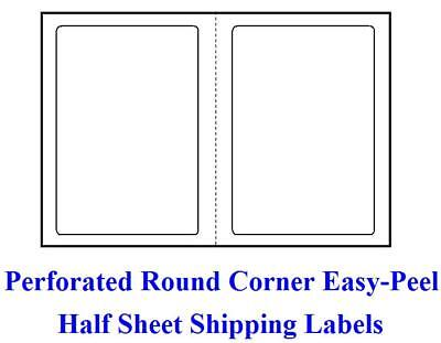 R 1000 Self Adhesive Round Corner Shipping Labels 8.5 X 5.5 Half Sheet Ebay Ups