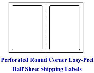 R 1000 Self Adhesive Round Corner Shipping Labels 8.5 X 5.5 Half Sheet Ebay Ups