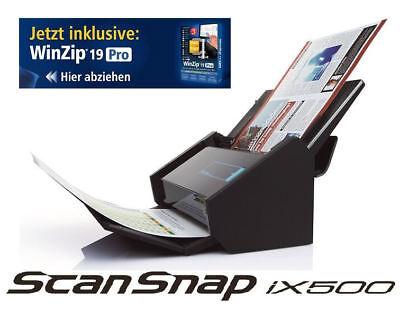 Fujitsu ScanSnap iX500 Dokumentenscanner + Corel WinZip 21 PRO *CHS-Edition*