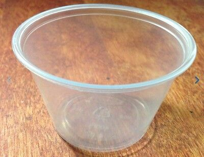 4 oz Jello Shot Glasses Souffle Portion Cups w/ Lid Option, Clear Plastic NEW - Souffle Cups