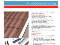 Klober Dry Verge continuous line 5m Black 'S' strip (pack of 4-20m)