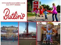 Butlins Minehead 2018 Caravan Hire, Easter Mon-Fri Break, Passes Included