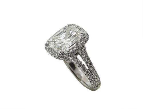4.12 Carat 18k White Gold Cushion Cut Diamond Engagement ring GIA Certified 1