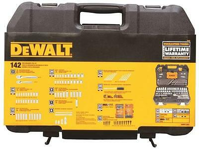 "NEW DEWALT DWMT73802 142 PIECE 1/4"" & 3/8"" DRIVE SOCKET TOOL SET & CASE 7515018"