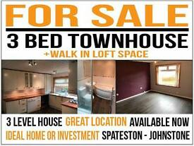 House for sale - 3 Bed Townhouse - Spateston - Johnstone - Renfrewshire - AVAILABLE NOW