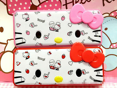 New Cute Hellokitty Metal Pencil Box Pen Case Portable Kid School Supply Kt9214