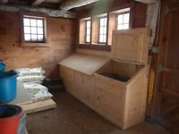 Tack lockers and feed storage for stable