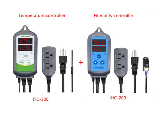 Inkbird 110V Pre-wired Temperature Control 308 + 200 Humidity Controller Brew US