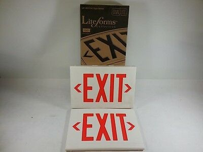 Dual Lite Lxurw Thermoplastic Led Exit Sign S35-1
