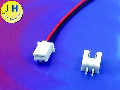 KIT BUCHSE E+ STECKER 2 polig / pins HEADER 2.54mm + Male Connector PCB #A1756
