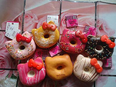 Hello Kitty Jumbo Donut Squishy Ball Chain Random 1 PCs Sweet Smell