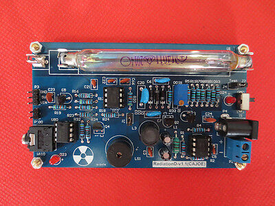 New Assembled Diy Geiger Counter Kit Nuclear Radiation Detector Arduino Tube
