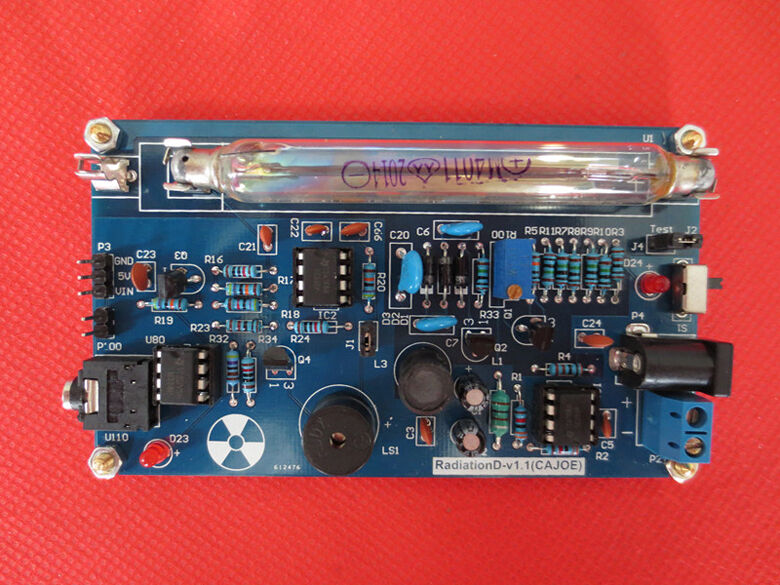 $ 57 - Assembled Diy Geiger Counter Kit Nuclear Radiation Detector Arduino Tube Us