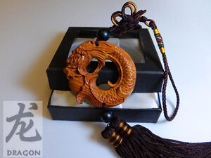 Brown-Chinese-Dragon-Collection-Buddha-Statue-Rosewood-Craved-luck-happiness
