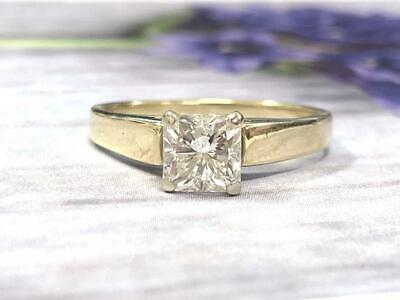 1.66CT Radiant Cut Diamond Solitaire Best Engagement Ring Solid 14K Yellow