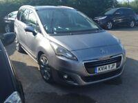 2014 7 Seater MPV Automatic*** Peugeot 5008 1.6 E-HDi Allure Diesel - SatNav/Camera/Sensors