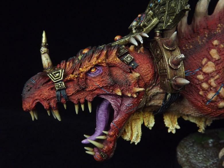 Forgeworld KPW painted Lizardmen   Dread Saurian