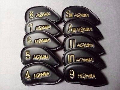 Golf Club Irons 4-11-A-S Cover Honma Basic Logo 10 Pieces Set Black