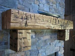 Authentic Hand Hewn Oak Beam Mantels, Timbers timber frame