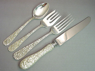 (ROSE - STIEFF STERLING 4 PIECE PLACE SETTING(S)   *FRENCH BLADE*)