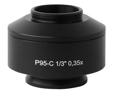 0.35x Standard Microscope Camera C Mount Adapter For Zeiss Trinocular Microscope
