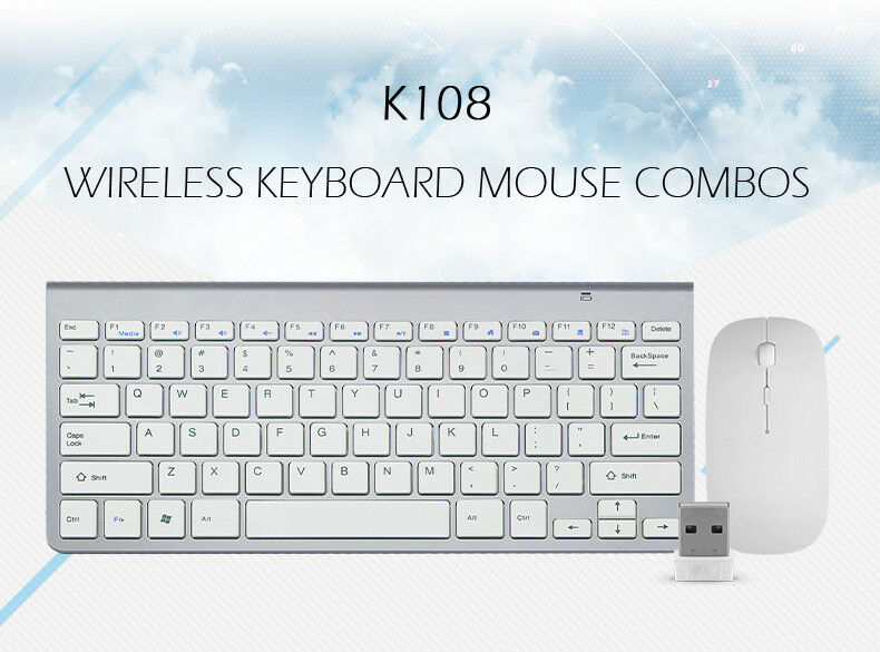 Ultra-thin Wireless 2,4G Keyboard And Mouse Combo for MAC PC