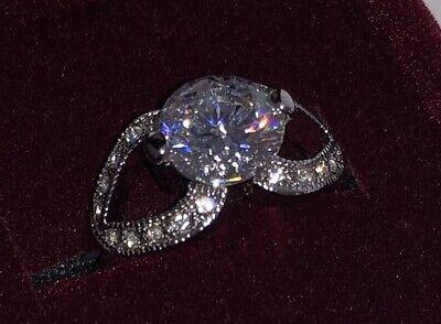 New Avon Silver FRANCESCA Faux Diamond Solitaire Ring Sizes 5 6 7 8 9 10 11