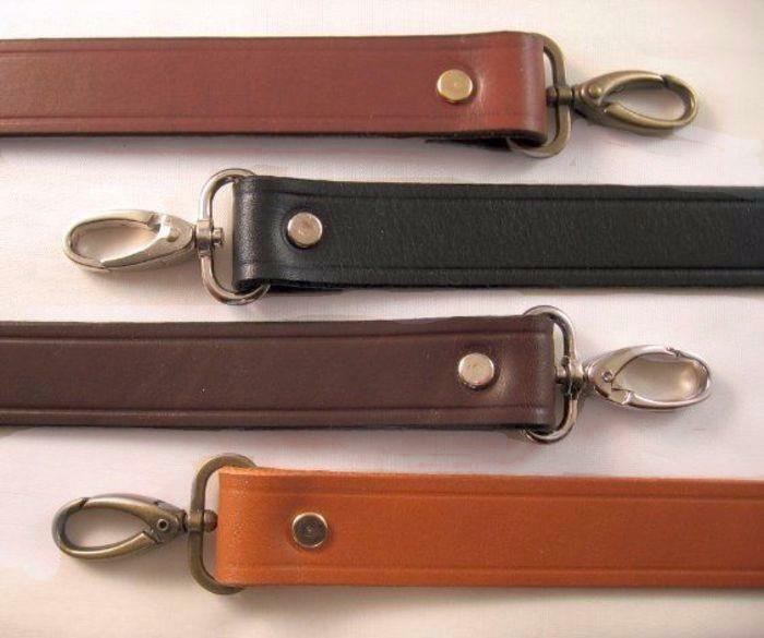1 in. Leather Shoulder Purse Handbag Replacement Strap - Choice of 4 Colors