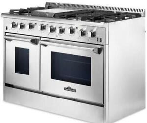 Dual Fuel Range HRD4803U Sealed Burner 48in -Thor Kitchen MSRP: $7,199.00  Our Price: $6,199.00  SALE: Our Price: $5,599