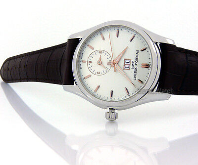 FREDERIQUE CONSTANT MEN SWISS MADE AUTOMATIC DUAL TIME 43mm SAPPHIRE FC-325V6B6