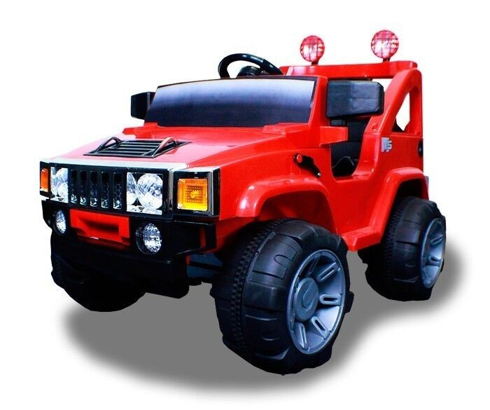 New 12V Battery Powered Kids Ride on Toy Truck Car w Remote 4 Wheel Red