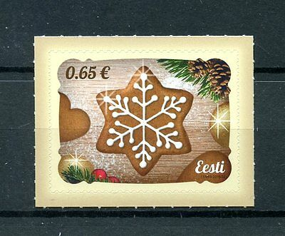 Estonia 2016 MNH Christmas Cookies 1v S/A Set Stamps