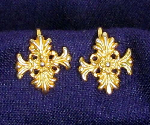 "Vintage MMA Screw Back Clip On Earrings Goldtone 5/8"" Metropolitan Museum of Art"