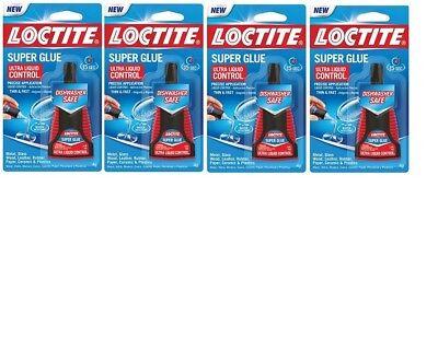 Loctite 1647358 Super Glue Ultra Liquid Control 0.14 Oz Packs Of 4