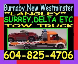 TOWING*TOW TRUCK_FlatRate604-825-4706*BBY,Rich,SRY,TriC,Van,Lang