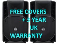 NEW - 2 x RCF ART 712A Mk2 Active Speakers with FREE COVERS - 3 Year UK Warranty
