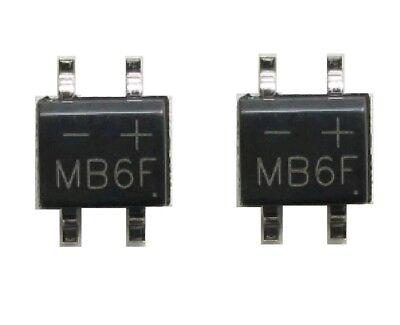 20pcs Mb6f 0.5a 600v Sop-4 Smd Bridge Rectifier Usa Seller