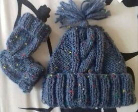 brand new hand knitted hat sets